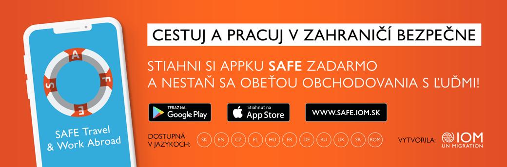 Nová mobilná aplikácia SAFE TRAVEL & WORK ABROAD – tvoj ideálny spoločník na cesty